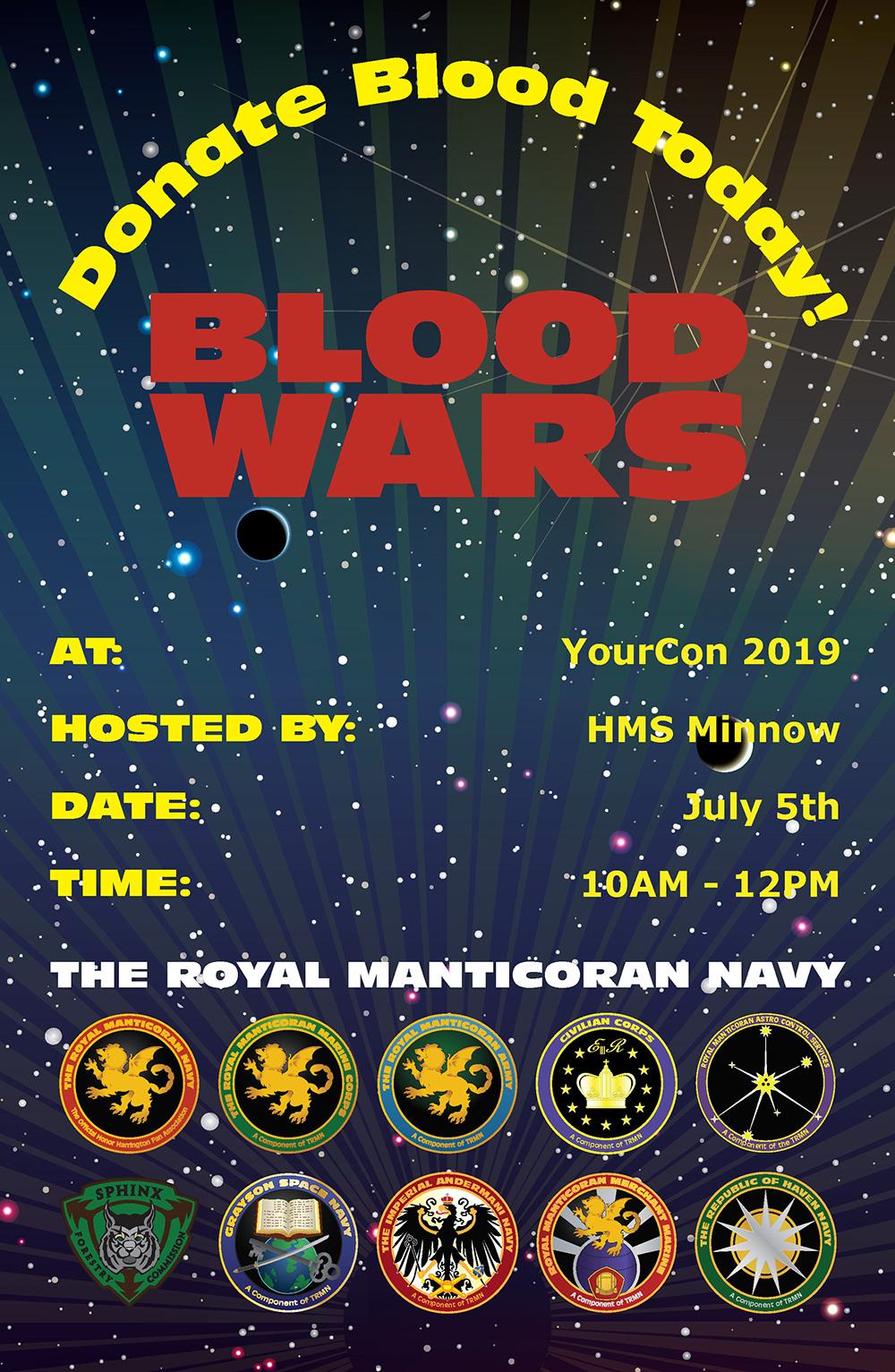 Sample filled TRMN Blood Drive poster